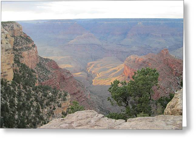 Twilight At Grand Canyon Greeting Card by Pasha Sourbeer