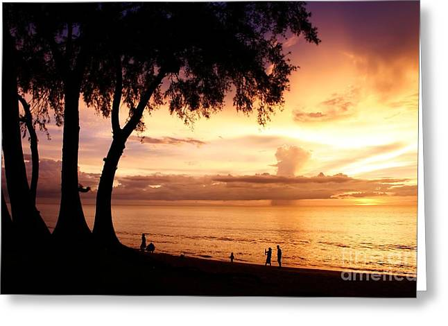 Twilight At Maikao Beach Phuket  Greeting Card by Anusorn Phuengprasert nachol