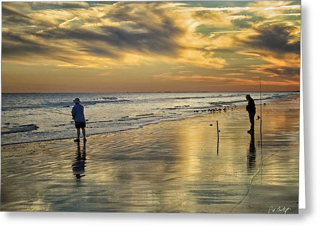 Twilight Fishing Greeting Card by Phill Doherty
