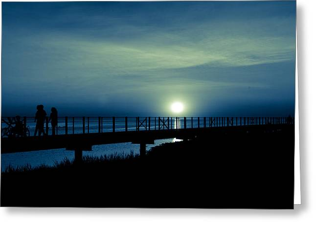 Greeting Card featuring the photograph Twilight  by Jason Naudi Photography