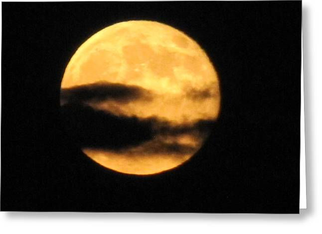 Greeting Card featuring the photograph Twilight Moon by Shawn Hughes