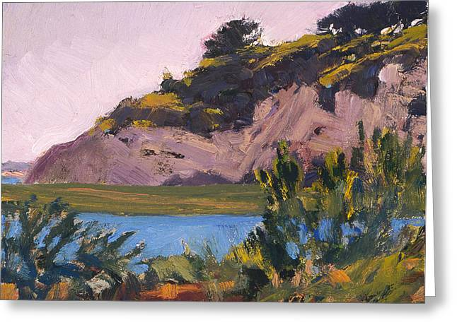 Twilight On The Bay Greeting Card by Mark Lunde