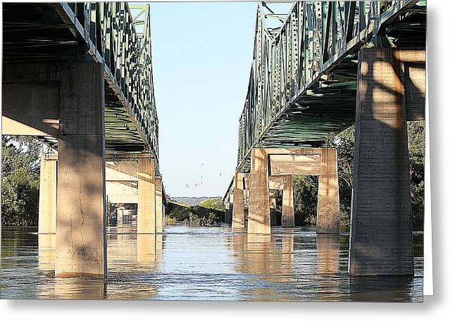 Greeting Card featuring the photograph Twin Bridges by Elizabeth Winter