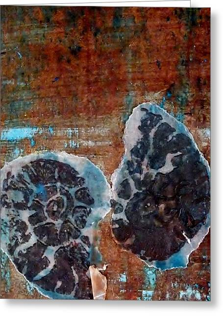 Twin Fossils Greeting Card by Emma Manners