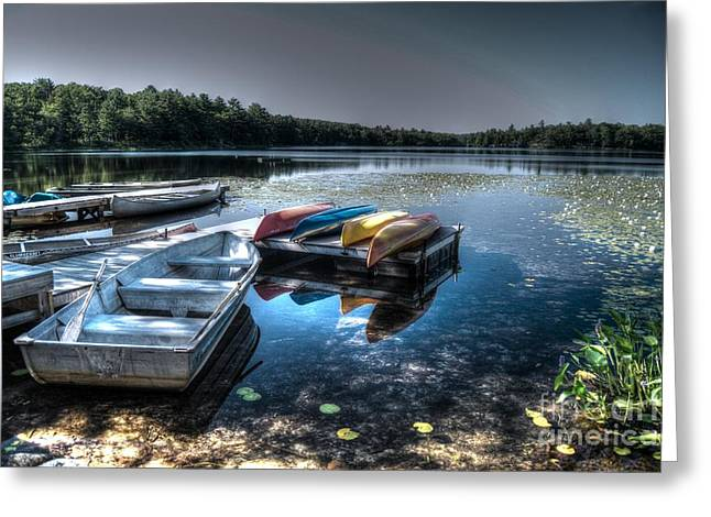 Twin Lakes Pa Greeting Card by Guy Harnett