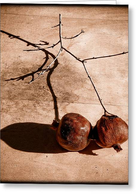 Albuquerque, New Mexico - Twin Pomegranates Greeting Card