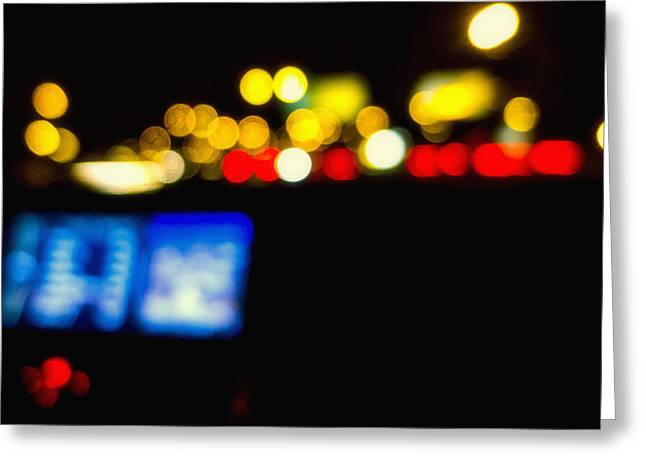 Twinkling Traffic Lights Greeting Card by Susan Stone
