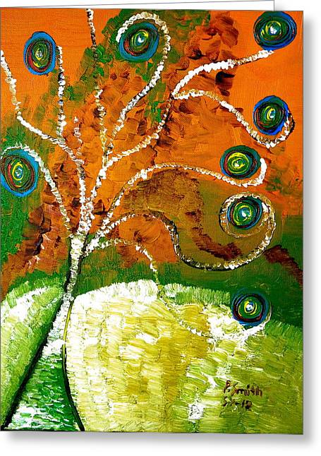 Twirl Pop Tree Greeting Card by Pretchill Smith