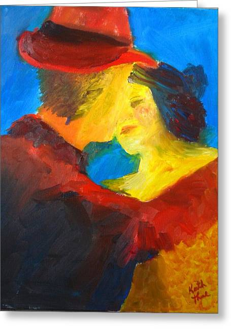 Two Am Tango Greeting Card by Keith Thue