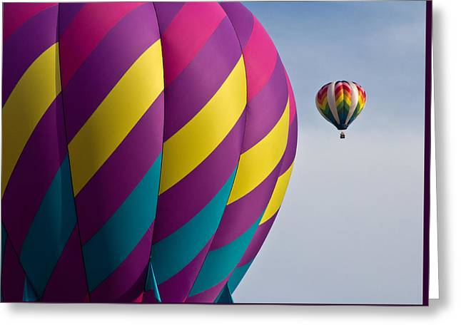 Balloon Race Greeting Card by Pat Eisenberger