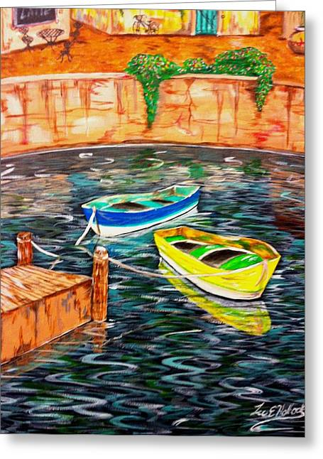 Two Boats Greeting Card by Lee Halbrook