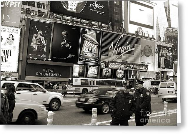 Two Cops On Broadway Greeting Card by RicardMN Photography