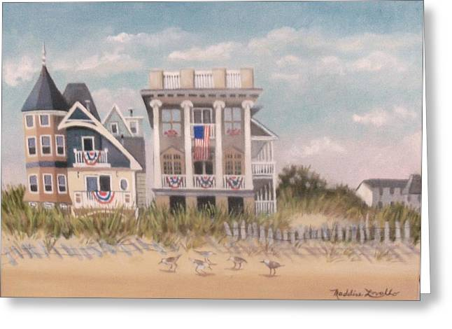 Two Different Houses On The Beach Greeting Card