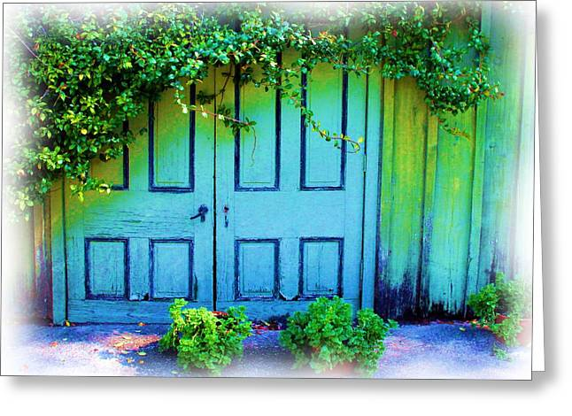 Two Doors Greeting Card by Judi Bagwell
