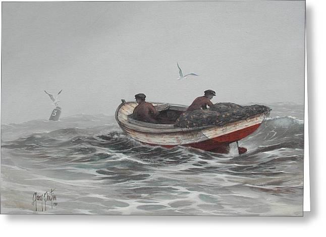 Two Fishermen Greeting Card