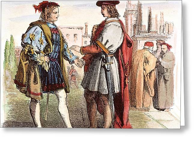 Two Gentlemen Of Verona Greeting Card by Granger
