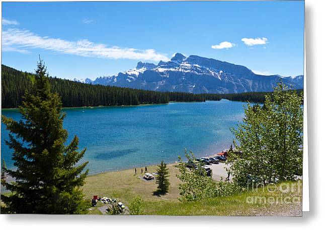 Two Jack Lake Greeting Card by Bob and Nancy Kendrick