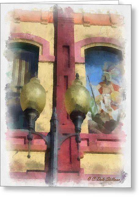 Two Lights Greeting Card by Dale Stillman