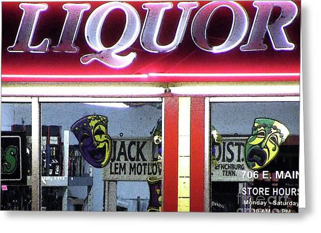 Two Sides Of Booze Greeting Card by Joe Jake Pratt