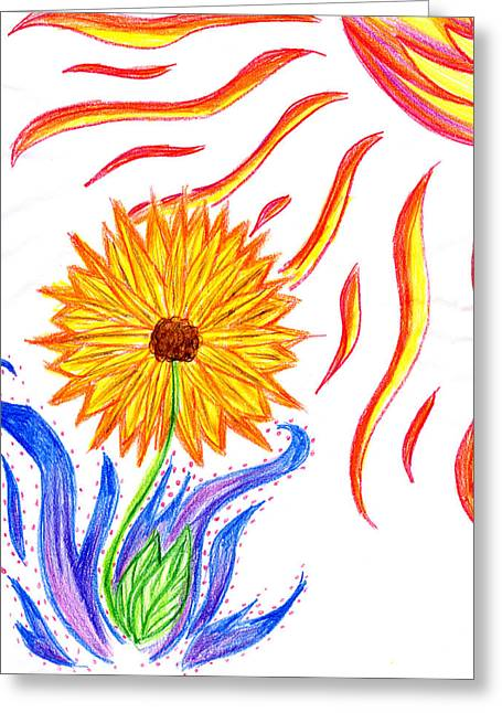 Two Suns Greeting Card by Tessa Hunt-Woodland