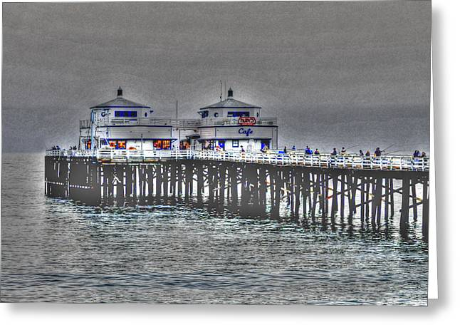Two Towers Malibu Greeting Card