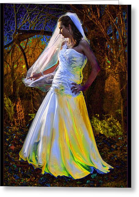 Two Worlds Apart Greeting Card by Ronel Broderick