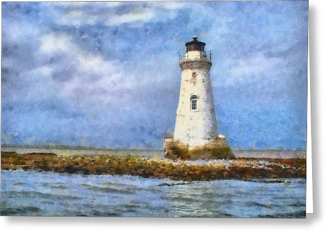 Tybee Island Lighthouse Greeting Card by Lynne Jenkins