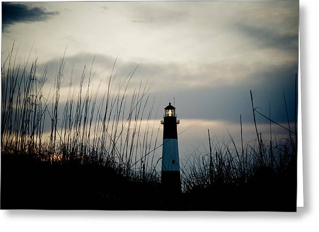Tybee Sunset Greeting Card by Jeremy Byers