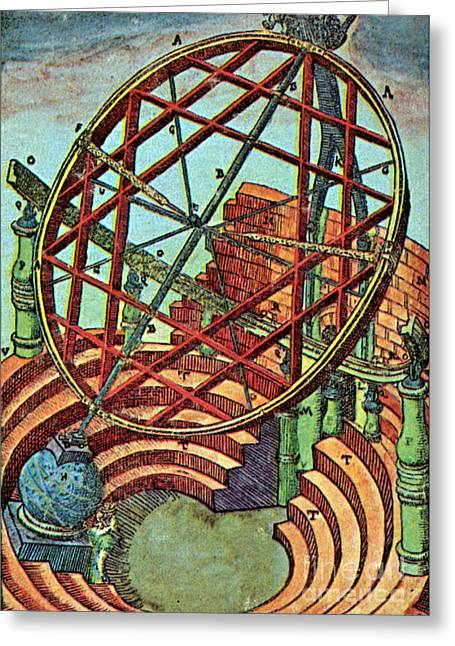 Tycho Brahes Equatorial Armillary Greeting Card by Science Source