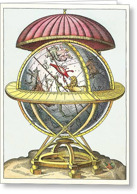 Tycho's Great Brass Globe Greeting Card by Detlev Van Ravenswaay