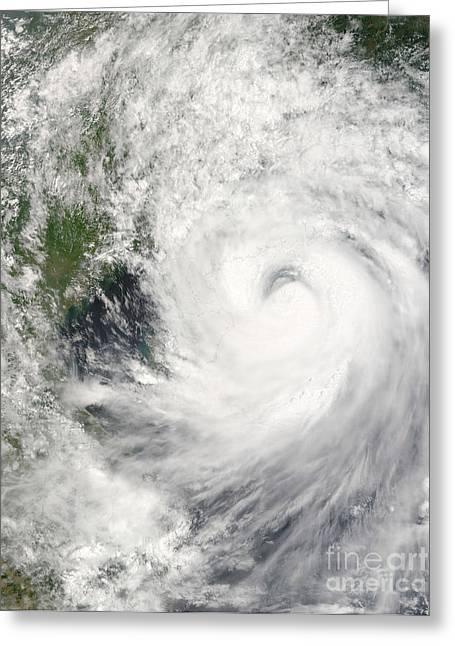 Typhoon Prapiroon Greeting Card by Stocktrek Images