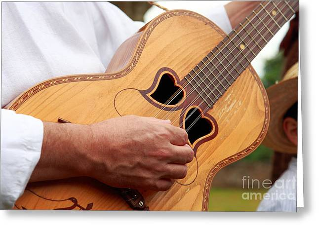 Typical Azores Guitar Greeting Card by Gaspar Avila