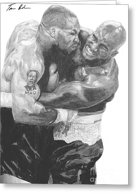 Tyson Vs Holyfield Greeting Card