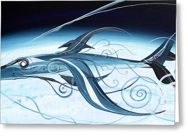 U2 Spyfish - Spy Plane As Abstract Fish - Greeting Card by J Vincent Scarpace