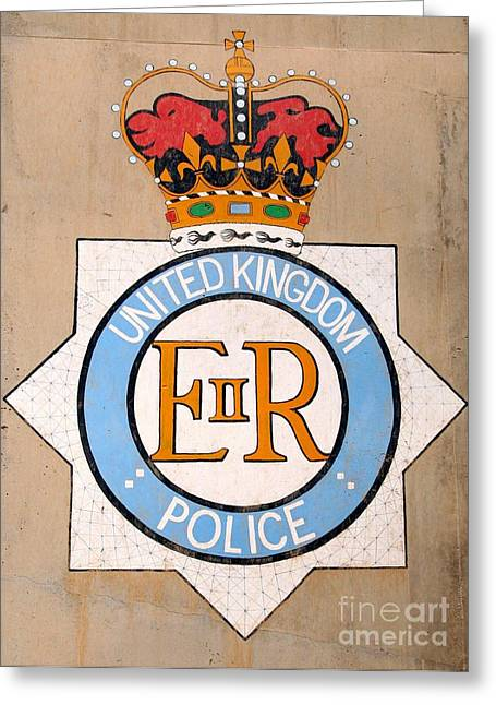 Uk Police Crest Greeting Card by Unknown
