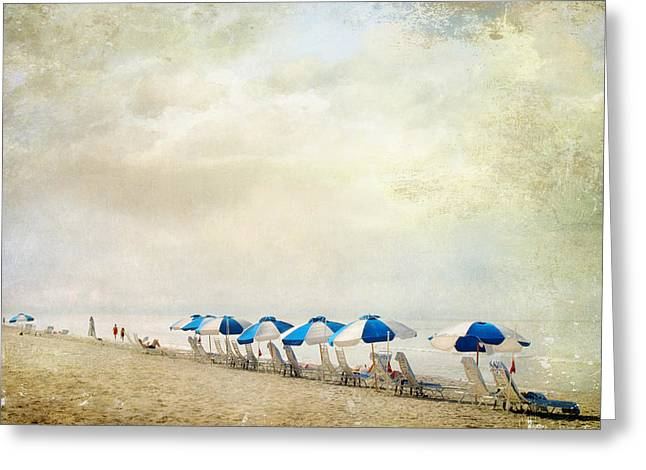 Greeting Card featuring the photograph Umbrellas by Karen Lynch