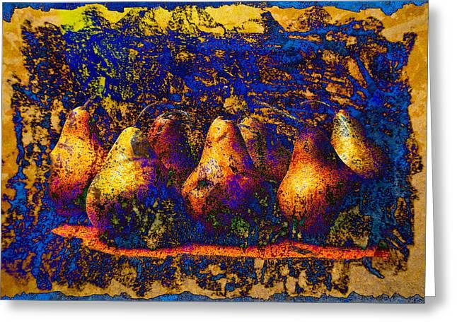Unborn Pears Greeting Card by David Clanton