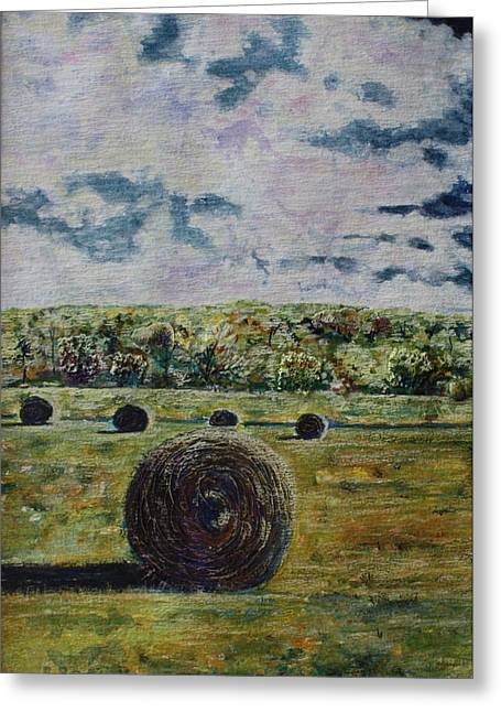 Uncertain Skies Greeting Card by Patsy Sharpe