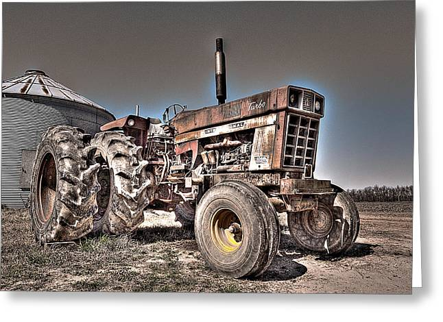Uncle Carly's Tractor Greeting Card