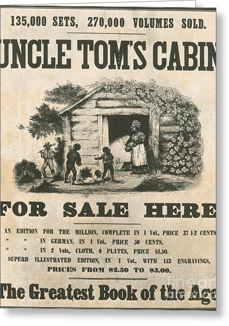 Uncle Toms Cabin Poster Greeting Card