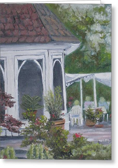Uncle's Garten Greeting Card by Paintings by Parish