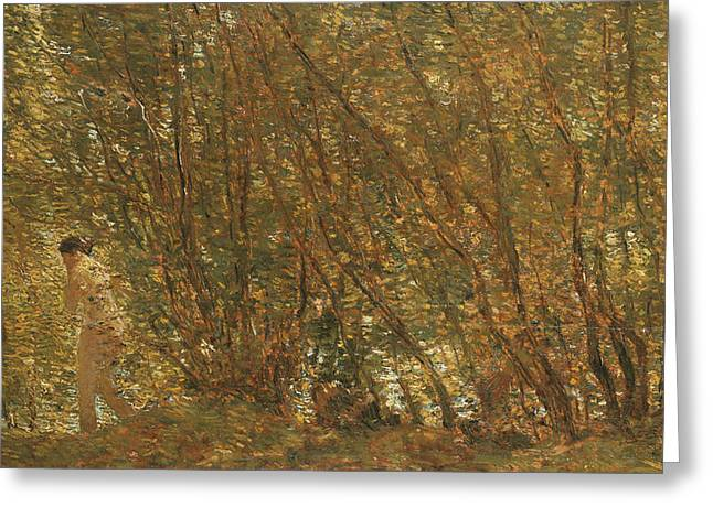Under The Alders Greeting Card by Childe Hassam