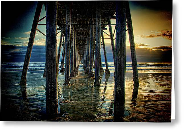 Under The Boardwalk Greeting Card by Chris Lord