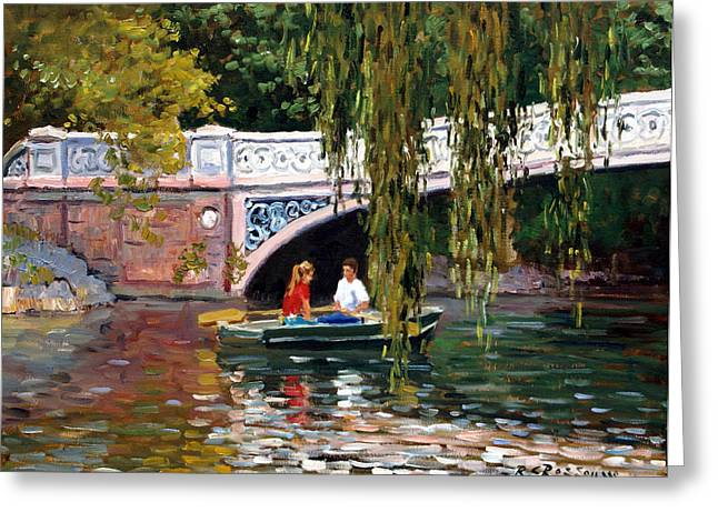 Under The Bow Bridge Central Park Greeting Card by Roelof Rossouw