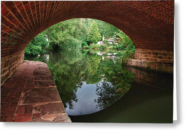 Under The Bridge Greeting Card by Shirley Mitchell