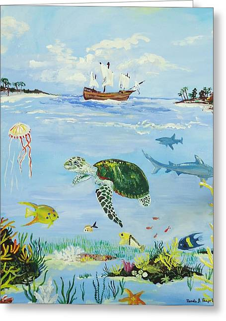 Under The Caravel Greeting Card