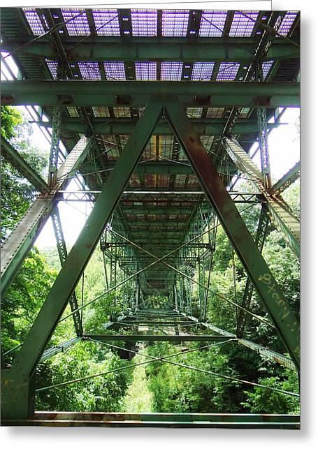 Under The Green Bridge 2 Greeting Card