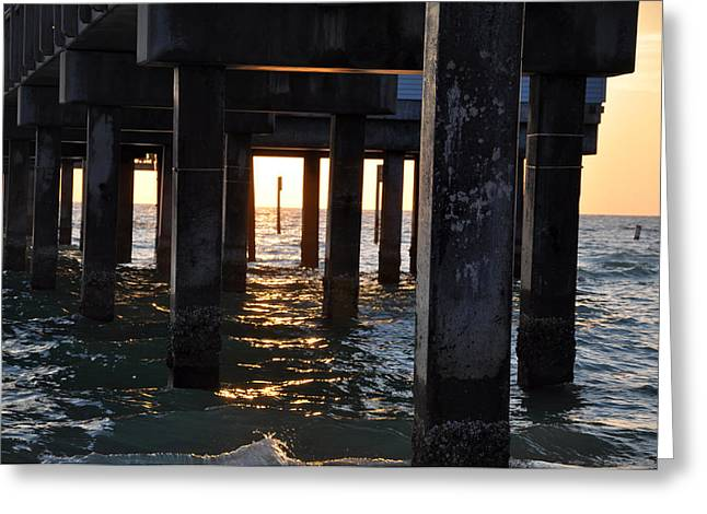 Under The Pier Greeting Card by Bill Cannon