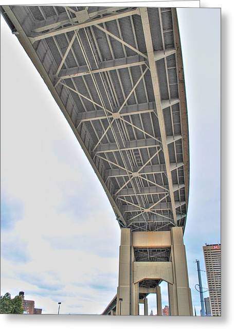 Greeting Card featuring the photograph Under The Skyway by Michael Frank Jr