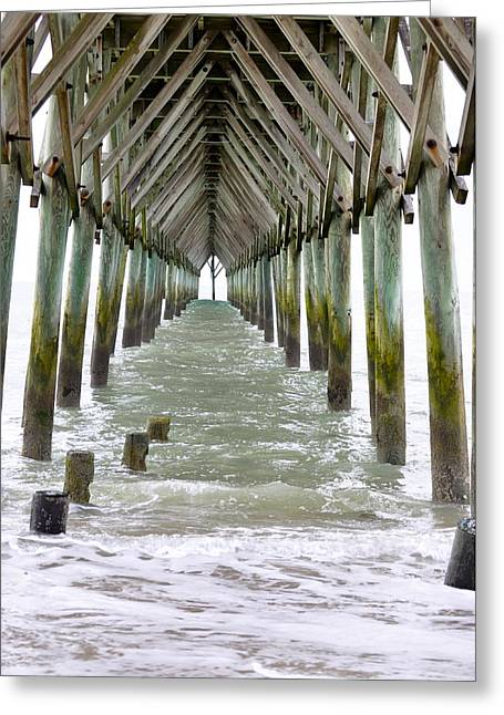Under The Surf City Pier Greeting Card